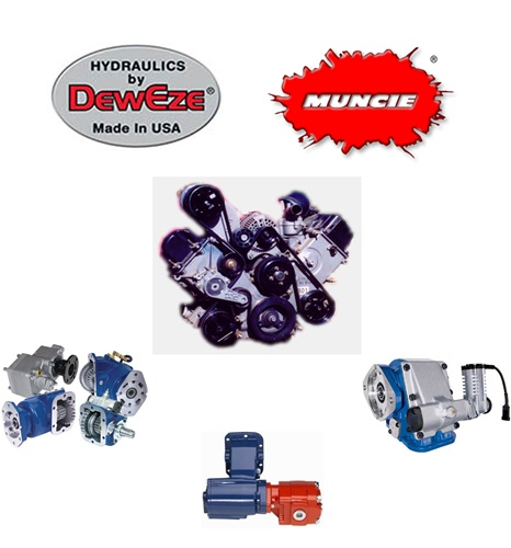 Jerr dan pto parts hydraulic pumps and cable or air shift pto s