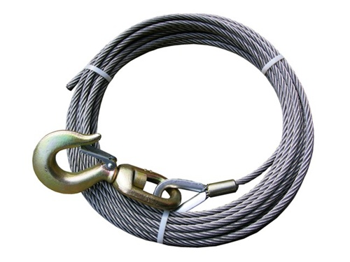 Quot diameter steel core winch cable with swivel alloy