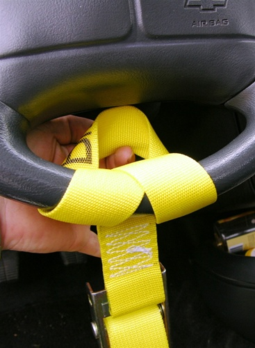 Steering Wheel Lock Strap Nylon Strap With Easy