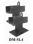 Collins Dolly Side Frame Mounting Bracket - Low Profile Mount for Dollies with 4.80 Tire Size.  (Pair).  Great for Wreckers and Other Towing and Recovery Equipment.