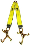 V Strap with cluster of mini attachments.  Comes with mini J hook, T hook, and R hook.  Grade 70 Hooks and attachements.  24
