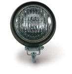 Round Work Light Rugged Rubber Case - Usually Found as Lower Work Lights on Car Carriers and Wreckers.