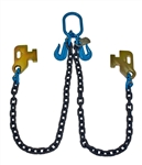 "Sea Container Loading V-Chain / Bridle - Grade 100 1/2"" Chain with 5' Legs."