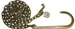 "Pair of 5/16"" tow chains with long J hooks at one end and T and grab hooks at the other.  Grade 70.  Great for towing, recovery, and transport.  Perfect tie down chains for the rear, on flat beds and car carriers.  Towing parts, accessories, jerr dan."