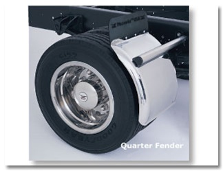 Quarterfenders Stainless Steel For Medium Duty Trucks